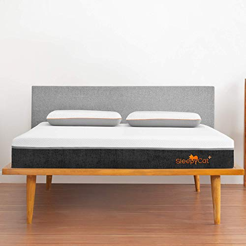 SleepyCat Plus Orthopedic Gel Memory Foam Mattress, King Bed Size, Medium Soft (78x72x8 Inches)