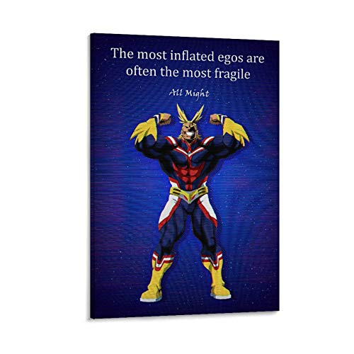 My Hero Academia Poster All Might Quotes