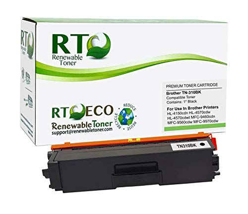 Renewable Toner Compatible Toner Cartridge Replacement for Brother TN-310BK TN310 HL-4150 HL-4570 MFC-9460 MFC-9560 MFC-9970 (Black)