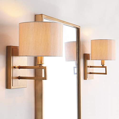 Safavieh Lighting Collection Catena Antique Gold 9.5-inch Wall Sconce (Set of 2)
