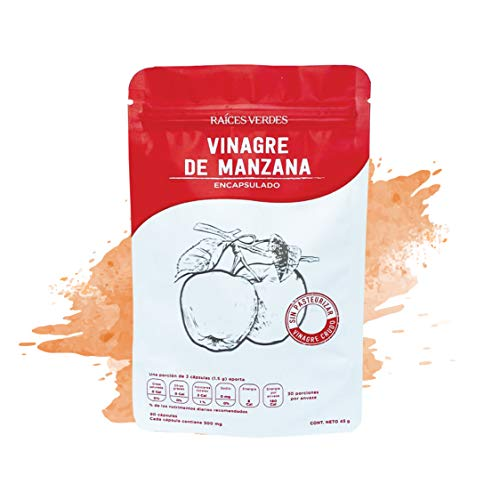Cápsulas Vinagre de Manzana | 90 cápsulas - 500 mg | Raíces Verdes