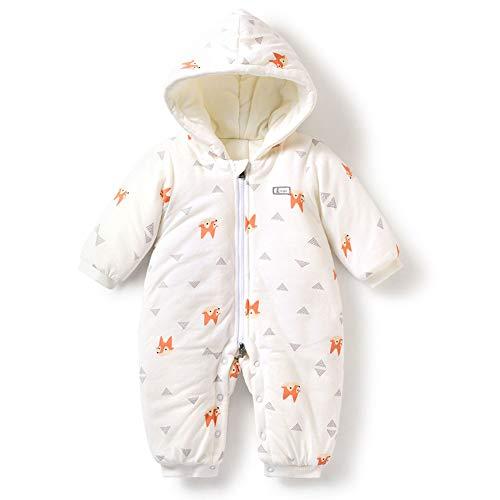 WGXQY Winter-Baby-Kleidung, Baumwolle Warm-Overall 1~18 Monate Männliche Und Weibliche Baby-Body Eindickung,C,66cm