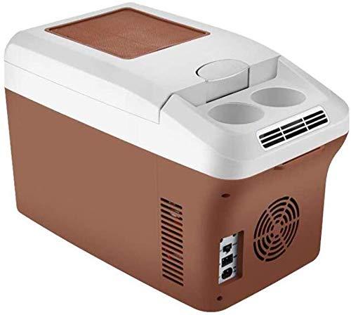 Ffggfgd Nevera portátil de compresor de refrigerador termoeléctrico congelador Calentamiento de función 15 litros, 12/24 / 220V para el Coche, camión y el zócalo, A ++,15litersbrown