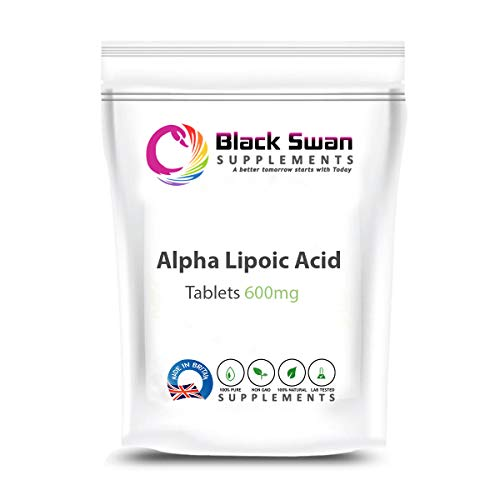 Black Swan Alpha Lipoic Acid Supplements | Anti-oxidant and Anti-inflammatory Properties | Support metabolic Functions, Sugar Level and Nervous Function | Healthy Blood Sugar Level | 600mg (120 tabs)