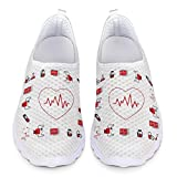 Chaqlin Zapatillas Deportivas Zapatillas de Deporte Lindas de la Enfermera para Las Mujeres Señoras Casuales Jardín Caminando Footing Calzado Vacaciones Playa Zapatos de Agua Blanco 40 UE