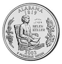 2003 P Alabama State Quarter Choice Uncirculated