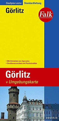 Falk Stadtplan Extra Standardfaltung Görlitz mit Ortsteilen von Zgorzelec
