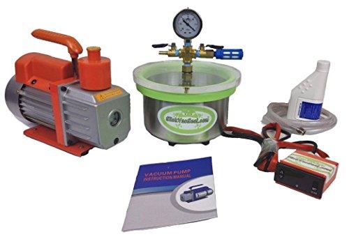 3 QT Stainless Steel Mini- Vacuum Oven Chamber + 3 CFM Vacuum Pump