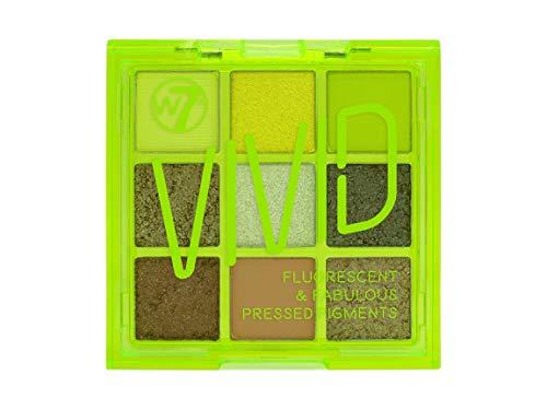 W7   Pressed Pigment Palette   Vivid Pressed Pigment Palette - Glowin' Green   9 Shades