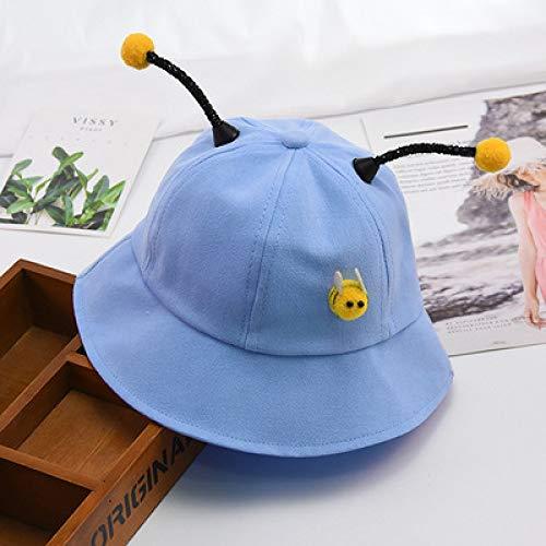 mlpnko Baby-Fischer-Hut-Jungen-Kind-Bassin-Kappe Nettes Bienen-Mädchen-Reise-Karikatur-Sonnenhut-Blau eine Größe