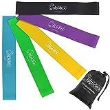 ALPIDEX Fitnessbänder Professional 5er Set Loopbänder in verschiedenen Stärken und