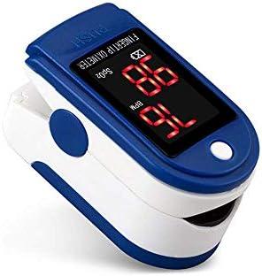 AUA Pulsioxímetro de Dedo Oxímetro de Pulso Oxímetro de Pulso Digital con Pantalla LED Monitor de Oxígeno Portátil Monitor de Frecuencia Cardíaca para Adultos, Niños, Personas Mayores