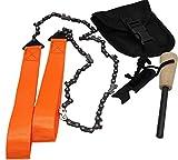 ELIKVAP - Kit di sopravvivenza + catene sega a mano taglio legno – accendifuoco per camp...