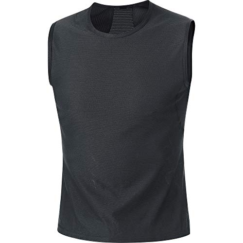 Gore Wear M Base Layer Camiseta sin Mangas, Hombre, Negro