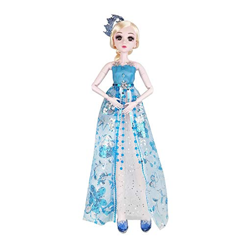 Eva BJD1/3 SD Puppe 57cm Kugelgelenkpuppen mit Kleid Haar Schuhe und bilden Eisprinzessin