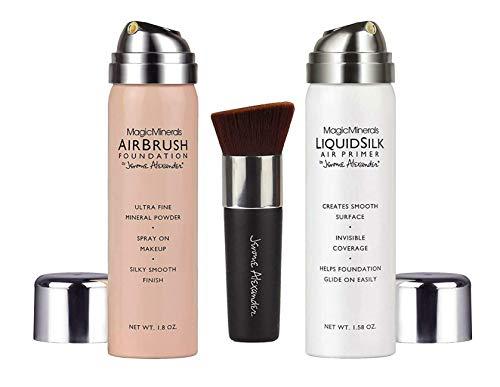 MagicMinerals AirBrush Foundation von Jerome Alexander 3-teiliges Make-up-Set | Schminke | Hochwertiges Make-up