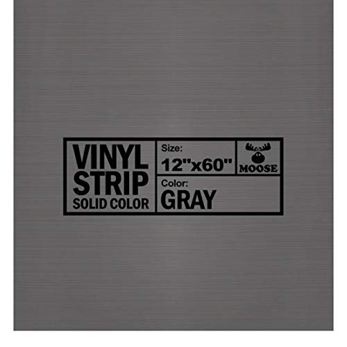 Moose Supply 12-Inch (1-Foot) by 60-Inch (5-Foot) Solid Gray Commercial Grade Vinyl Strip for Repairing Inflatables and Bounce Houses