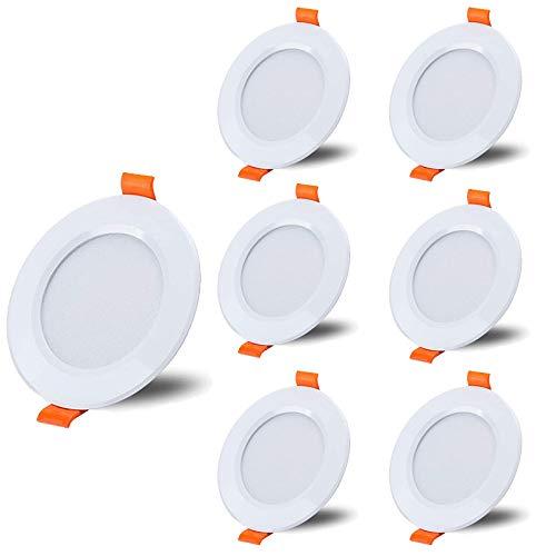 COMY Foco empotrable LED 6-Pack 15W LED Blanco frío 6000K con 1500lm No Regulable, Foco LED de Techo IP20 Impermeable,Driver Incluido, para baño, Cocina, Muebles o Exterior