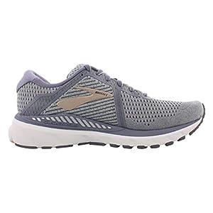 Brooks Womens Adrenaline GTS 20 Running Shoe - Grey/Pale Peach/White - B - 9.5