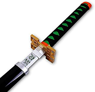 Demon Slayer Handmade Sword - Lacquered Wood, Deluxe Table Stand for Katana ,Anime Fans' Collections