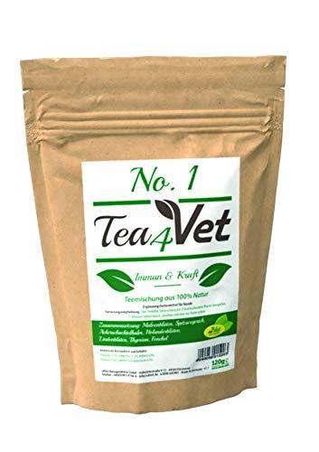 cdVet Natuurproducten Tea4Vet No 1 Immun & kracht 120 g - hond - theemengsel - voor een sterk immuunsysteem + kracht - met holder + venkel + malvenbloesem - 100% natuur -