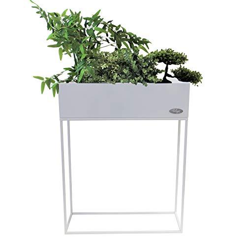 Wohaga® Pflanzkasten 'Verona' Blumenständer, Metall, 55x20x70cm, Weiß - Blumenkasten Pflanzenkasten Blumenkasten Hochbeet Balkonkasten