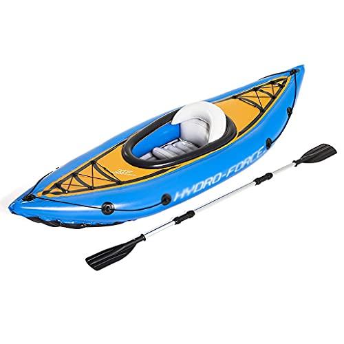 ZXQZ Kayak Kayak Hinchable para 1 Adulto, Balsa Hinchable con Remo, Azul