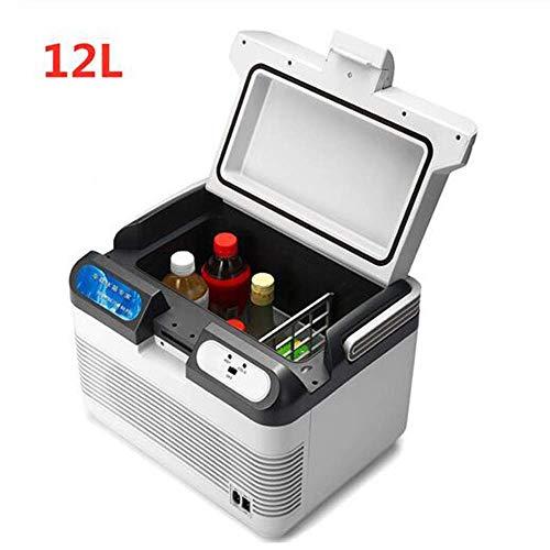YLLN 12L Autokühlschrank Autokühlschrank 12V / 240V Camping tragbarer Mini-Kühlschrank Kompressor Autokühlschrank Kühler und Wärmer 10-65 Grad