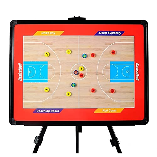 Tablero Táctico de Baloncesto Magnético, Tipo de Baloncesto Tipo de Baloncesto Tablero de Enseñanza Tablero de Demostración, Fácil de Llevar, Reescribible (Color : UNA)