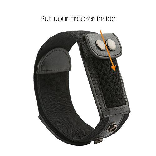 fit-power tobillo Wrap banda para Fitbit Flex/2cremallera, Fitbit, Fitbit alta actividad rastreadores, negro