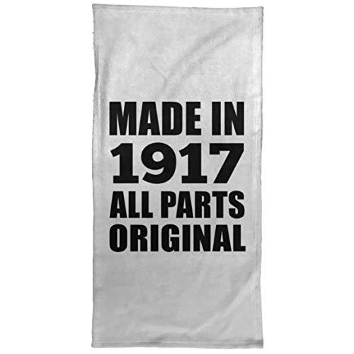 Designsify 104th Birthday Made in 1917 All Parts Original - Hand Towel 15x30 Zoll Weiche Handtuch Kür Kochen - Geschenk zum Geburtstag Jahrestag Muttertag Vatertag Ostern