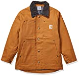 Carhartt Boys' Big Chore Coat Barn Jacket, Brown, S-7/8