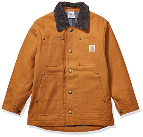 Carhartt Boys' Big Chore Coat Barn Jacket, Brown, Large