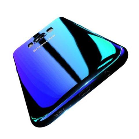 Winhoo Galaxy S8 Case,Gradual Colorful Gradient Change Color Ultra Thin Electroplating Blue Light Mirror Lightweight Anti-...