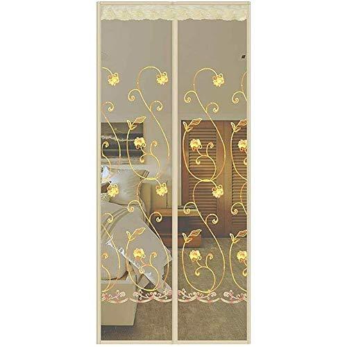 Magnetische hordeur met heavy-duty gaasgordijn en volledig frame, privacydeurscherm voor kinderkamer in de woonkamer, eenvoudige installatie, geen opening