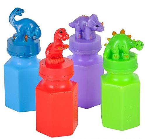 Rhode Island Novelty 3 Inch Dinosaur Bubble Bottles, Two Dozen per Order