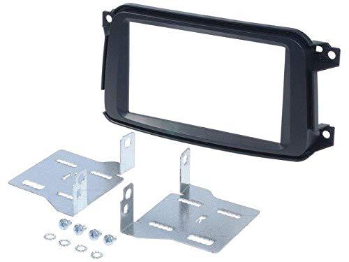 Kit Facade Autoradio compatible avec Smart Fortwo Noir