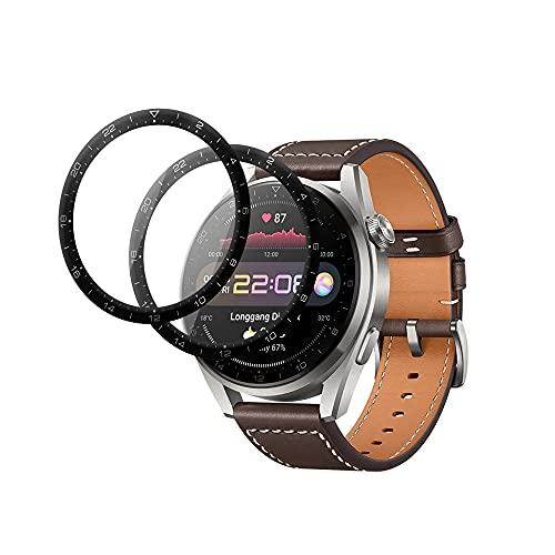AiMok 2 Stück Panzerglas Schutzfolie Kompatibel mit Huawei Watch 3 Pro, [HD Klar] [Anti-Kratzen] Vollständige Abdeckung BildschirmSchutzfolie für Huawei Watch 3 Pro