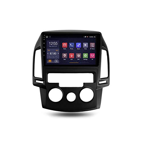 Autoradio Bluetooth, 2 Din Android Radio De Coche 9'' Pantalla Táctil Wifi Información Del Coche Plug And Play Completo RCA SWC Soporte Carautoplay/GPS/DAB+/OBDII Para Hyundai i30,Mt,4G Wifi 2G+32G