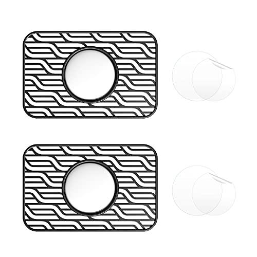 EDIMENS 2 Packs Airtags Brieftasche hülle Kompatibel mit Apple Airtags, Kreditkartengröße Schutzhülle mit Schutzfolie Tag Karte Flex für Geldbeutel Clutch Handtaschen Rucksack Damen Herren, Schwarz