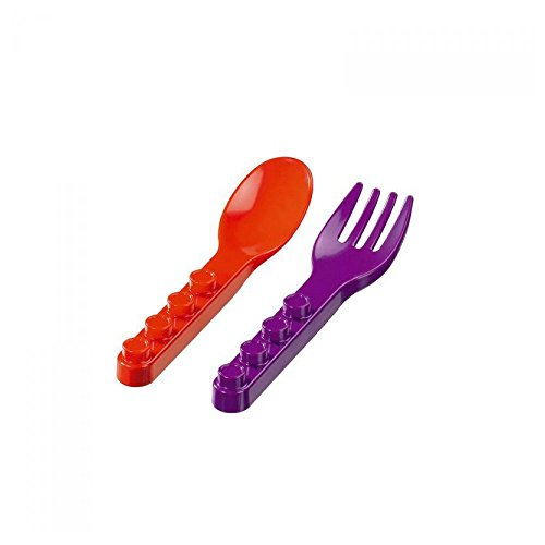 Placematix Couverts en Plastique pour Enfants (cuillère Roja-tenedor Violet), Couleur Rouge (8718657930251)