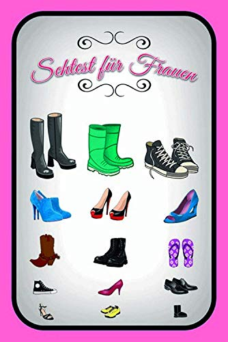 Sehtest für Frauen Schuhe Blechschild Metallschild Schild gewölbt Metal Tin Sign 20 x 30 cm