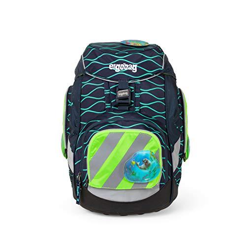 ergobag pack Sicherheitsset mit Reflektorstreifen - Sicherheitsset, 3-teilig - Grün - Grün