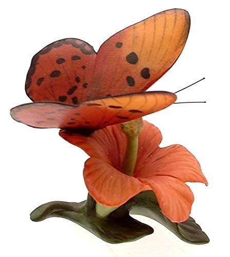 Franklin Porcelain Butterflies Of The World Décoration en forme de papillon tufté