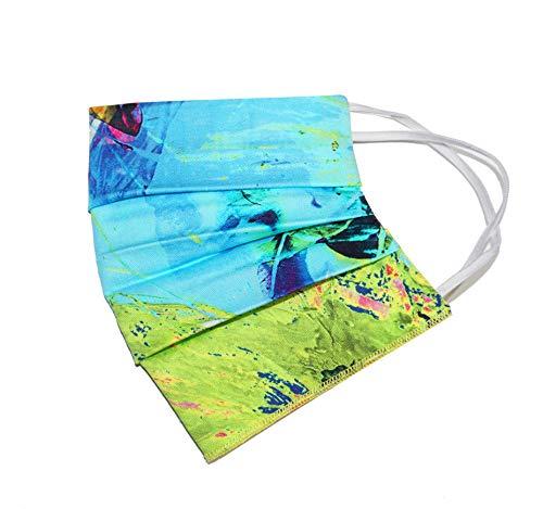 Weri Spezials Sommer Gesichtsmaske Dünn Mundmaske, Bandana, Multifunktionstuch, Staubmaske Atem-, Staub-, Luft-, Mund- und Nase- Maske. Für Wandern und Freizeit (One Size, Sommer Bunt)