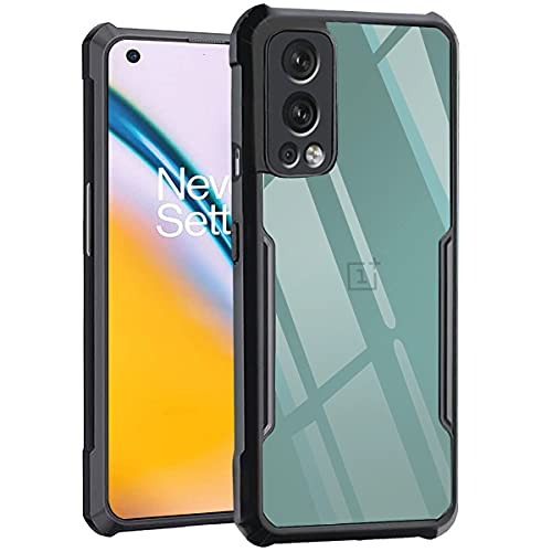 TheGiftKart Shockproof Crystal Clear OnePlus Nord 2 5G Back Cover Case | 360 Degree Protection | Protective Design | Transparent Back Cover Case for OnePlus Nord 2 5G (Black Bumper)
