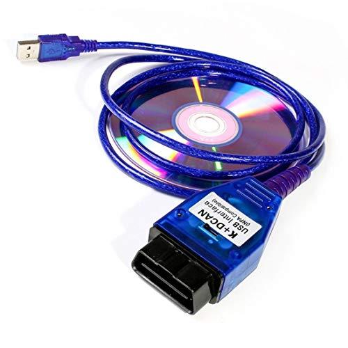 NiceCheck INPA d Can Kabel Codierung Kabel K+ CAN Ediabas Kabel mit Schalter DCAN Interface Coding Unterstützung E Serials Interface für R56 E87 E93 E70