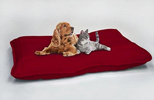 Italian Bed Linen Maxy Cuscinone per Cani Imbottito 60x100cm Bordeaux