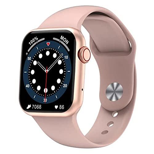 Smartwatch Uomo Donna,Orologio Sportivo Bluetooth,Fitness Tracker 1,75'' Full Touch con Cardiofrequenzimetro Contapassi Salute Notifiche Impermeabile IP68 Android iOS(Rosa)