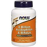NOW Foods 8 Billion Acidophilus & Bifidus - 120 Cápsulas